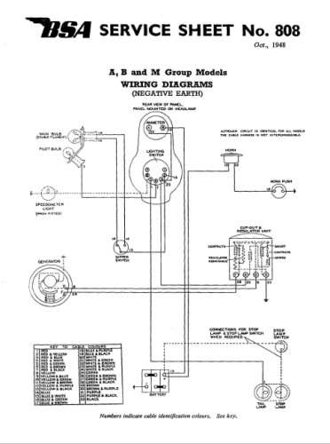 bsa a50 wiring diagram bsa m20 / m21 - boutique www.meca-passion.com #2